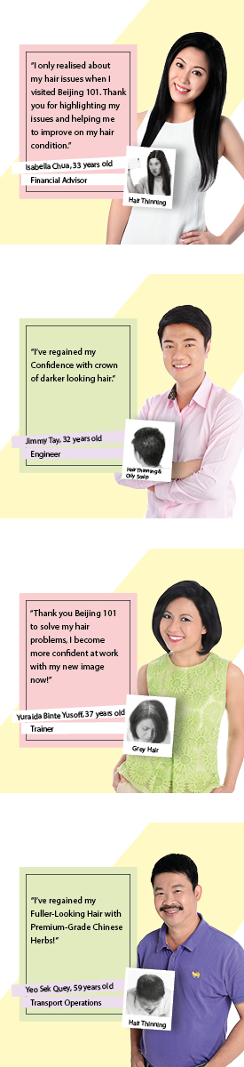 Different stages of male pattern hair loss and what Beijing 101 Hair Care brings you.